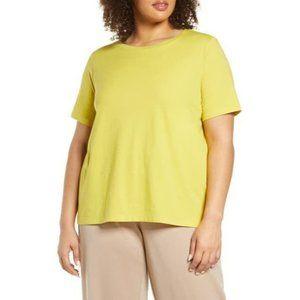 Eileen Fisher crew neck organic cotton tee shirt
